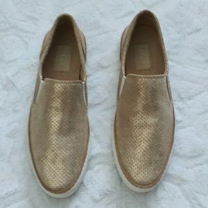 e079a3ad35b UGG adley perf stardust slip on sneakers.